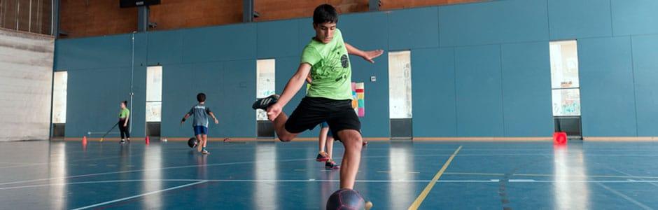 Indoor football header
