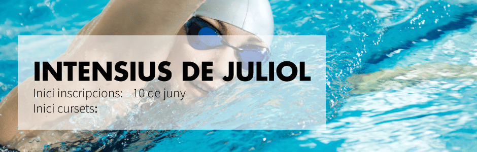 Intensive summer swimming courses